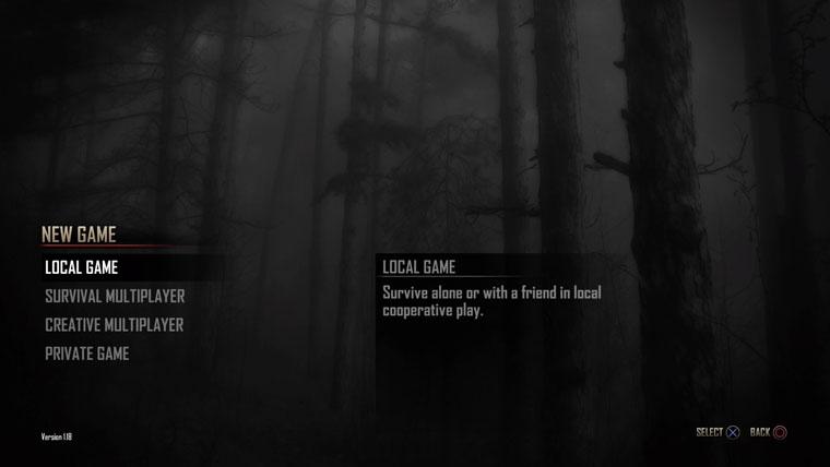 7DTDモード選択画面