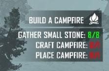 キャンプファイアの設置