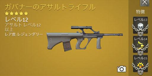 ウォーキング・デッド:ノーマンズ・ランド 武器 ガバナーのアサルトライフル