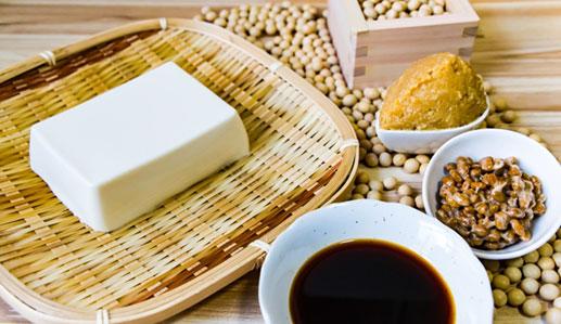 タンパク質を含む植物性の食べ物
