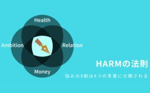 HARMの法則、悩みの9割は4つの言葉に分類できる